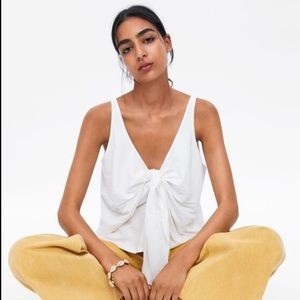 Zara NWT knotted top
